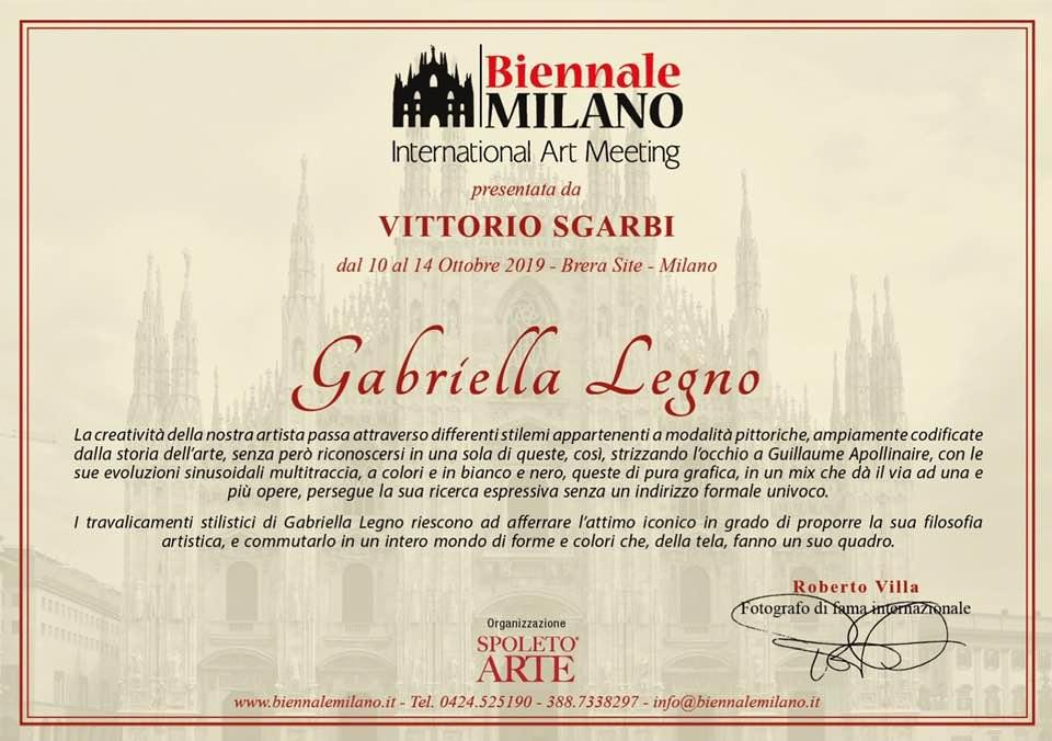 Biennale di Milano - Gabriella Legno
